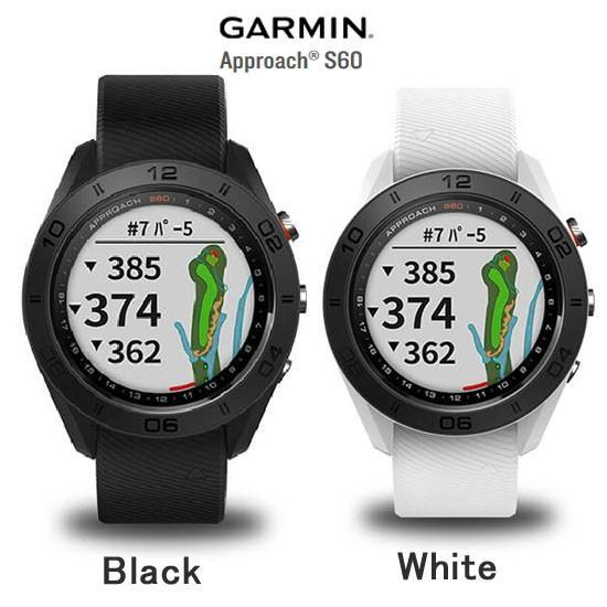 ガーミン 腕時計 アプローチ S60 ブラック /ホワイトゴルフウォッチ 腕時計 Garmin Approach S60 黒 010-01702-20 010-01702-24