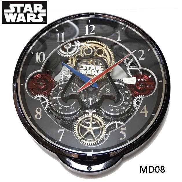 国内限定/1本限りプレミアムモデル  RHYTHM KARAKURI スターウォーズ クロック STAR WARS 08カラー 4MN533MD08  掛時計