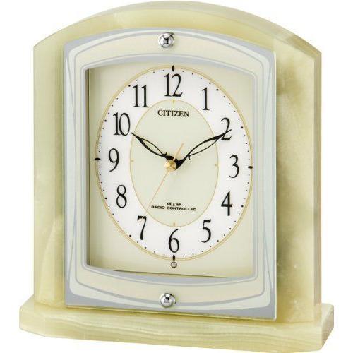 シチズン (CITIZEN) パルラフィーネR400 オニックス枠 電波置時計  8RY400-005