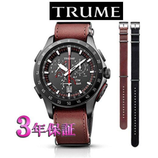 低価格で大人気の エプソン  TRUME TR-MB7005 チタン・レザーバンド  ソーラー 腕時計 (メンズ) ライトチャージ GPS衛星電波時計, LOWBROW 4065ccdf