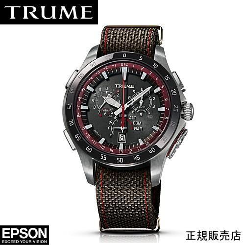 最先端 EPSON エプソン TRUME トゥルーム TR-MB7010 チタン・ナイロンバンド ソーラー 腕時計(2年間保証), 工具屋「まいど!」 e37956f2
