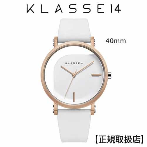 新品本物 クラス14 KLASSE14 腕時計 IMPERFECT ANGLE 40mm White White 40mm ホワイトダイヤル (一部透過) ANGLE WIM19RG009M, ワインの店 バッカスマーケット:fecf6651 --- airmodconsu.dominiotemporario.com