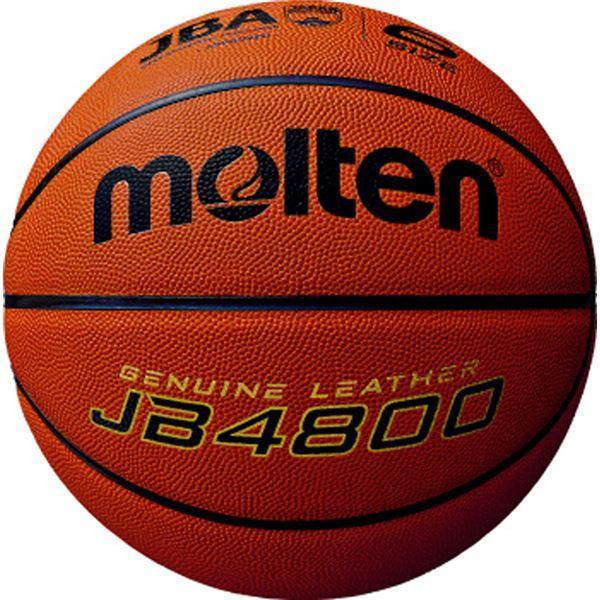 〔モルテン Molten〕 バスケットボール 〔6号球〕 天然皮革 JB4800 B6C4800 〔運動 スポーツ用品〕