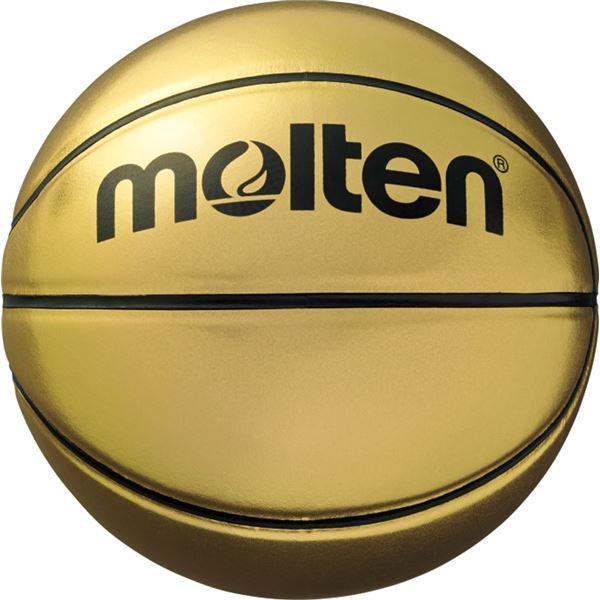 〔モルテン Molten〕 記念ボール バスケットボール 〔7号球〕 ゴールド 人工皮革 B7C9500 〔運動 スポーツ用品 イベント 大会〕