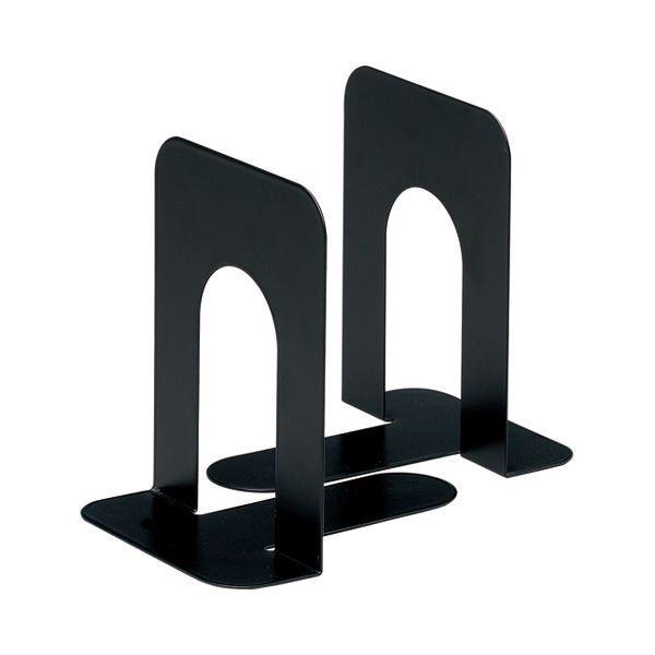 (まとめ) TANOSEE ブックエンド T型 中 ブラック 1組(2枚) 〔×30セット〕