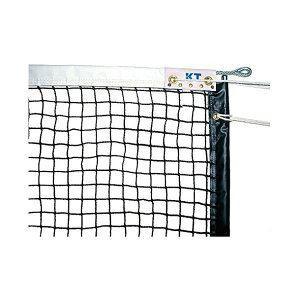 KTネット 全天候式無結節 硬式テニスネット サイドポール挿入式 センターストラップ付き 日本製 〔サイズ:12.65×1.07m〕 ブラック KT4223