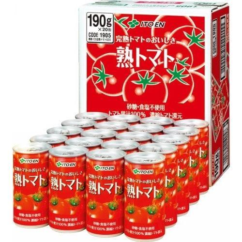 トマトジュース 伊藤園 熟トマト 190g×20缶 youbetsuen-y