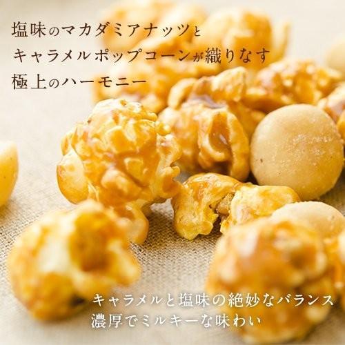 ハワイ ポップコーン マカダミアナッツ(塩味)withハワイアンキャラメルクリスプ 160g×3袋|youbetsuen-y|02