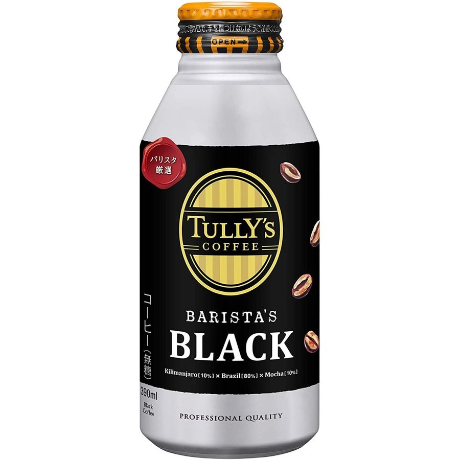 タリーズコーヒー 伊藤園 ブラック バリスタズブラック ボトル缶 390ml×24本×2ケース HOT&COLD対応 youbetsuen-y