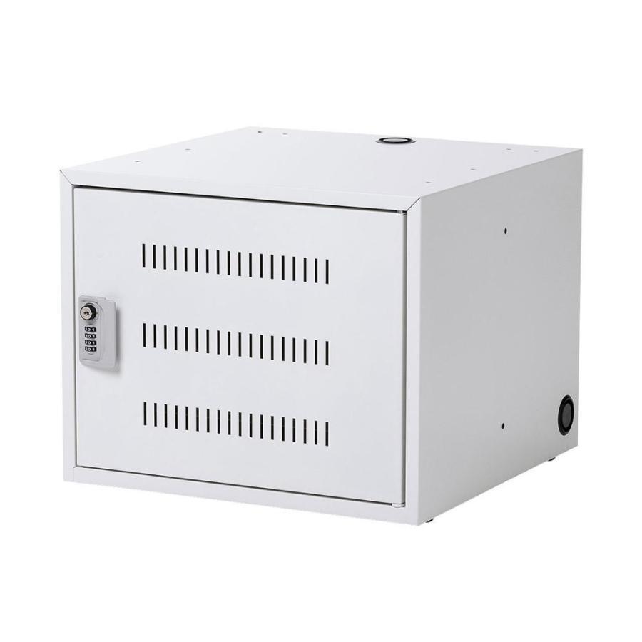 サンワサプライ ノートパソコン収納キャビネット CAI-CAB106W(代引き不可)(同梱不可)
