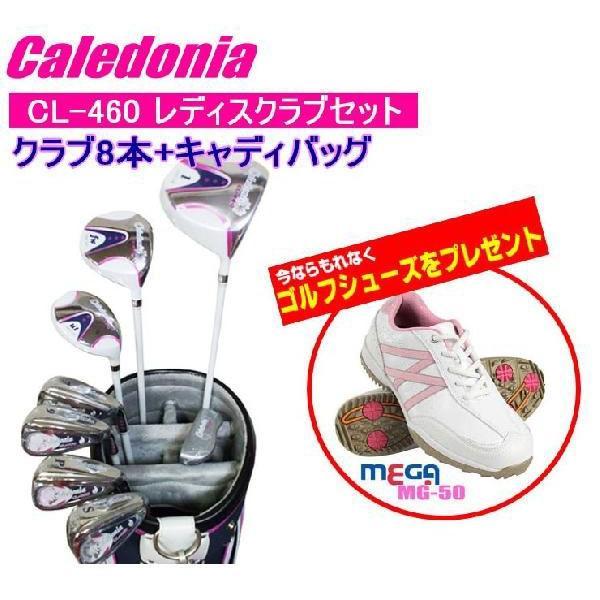 Caledonia(カレドニア) CL-460レディスセット【クラブ8本+キャディーバッグ】+さらにゴルフシューズが付いてくる!