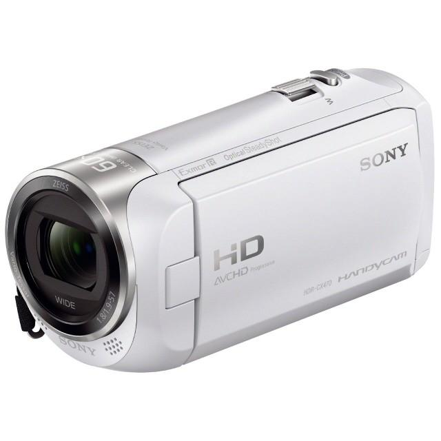 SONY ビデオカメラ HDR-CX470 (W) [ホワイト]