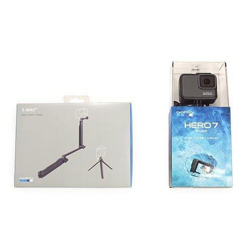 GoPro ビデオカメラ HERO7 SILVER 3-Wayセット