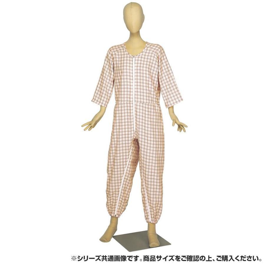 【送料無料】 ピンク Lサイズ らくらく介護ねまき前股フック 4200-介護用品