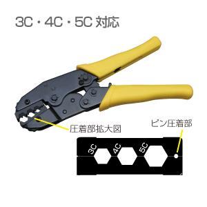 BNCコネクタ 圧着工具 3C-4C-5C対応品 カナレ純正工具 TCD-35CA相当 防犯カメラ 最新アイテム +4C e3659 初回限定 yct3
