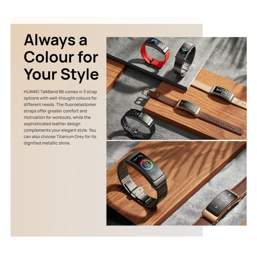 HUAWEI TalkBand B6 日本語 表示  ヘッドセット & スマートウォッチ / 血中酸素 / ブラック|yourmiraimall|05