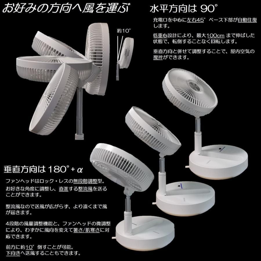 MOMAX 扇風機 サーキュレーター タワーファン DCモーター 静音 リビング / 軽量 ポータブル 充電  省エネ / ヘルスケア / IF9|yourmiraimall|06