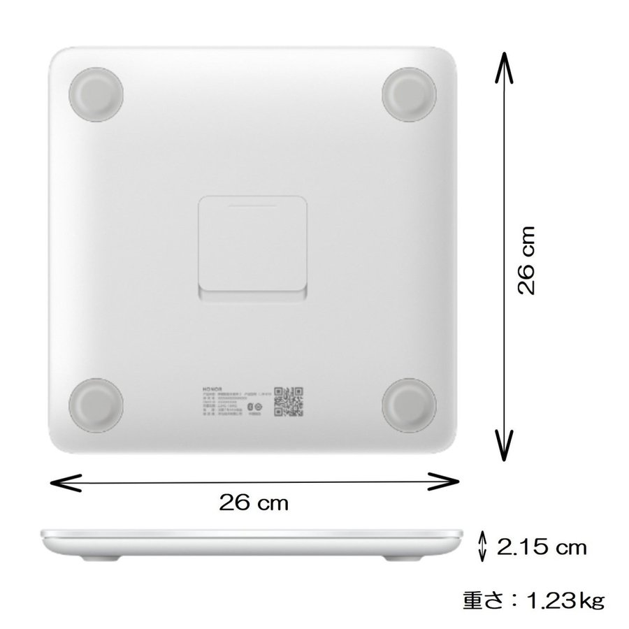 HUAWEI HONOR Scale 2 Bluetooth 多機能 ヘルスメーター 体重計 / スポーツ & ヘルスケア / ホワイト yourmiraimall 03
