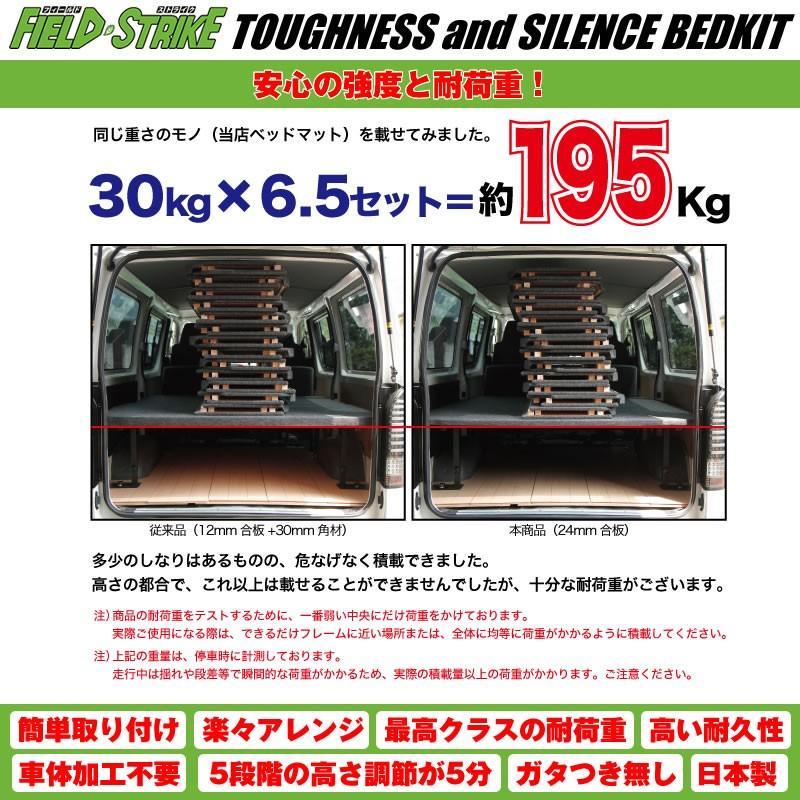 【硬質マットタイプ/重歩行用ダークウッド/5ドア】Field Strike ベッドキット NV350 キャラバン DX ヒーターなし専用(H24/6-)|yourparts|07