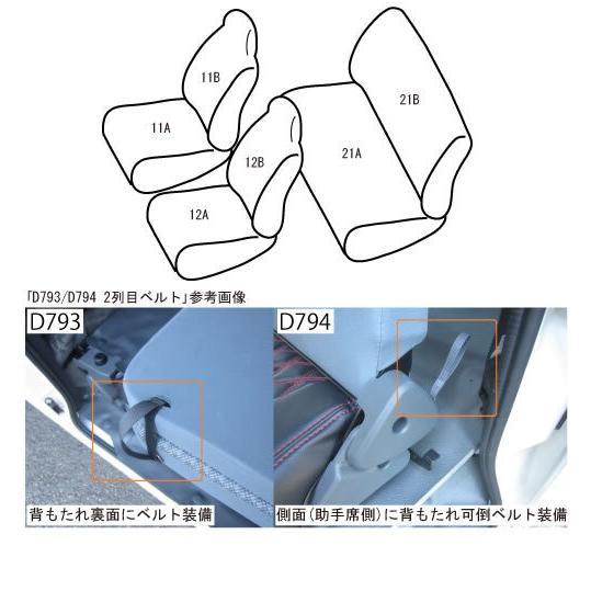 ハイゼットカーゴS321DX後期 (H29/11-) ベレッツァシートカバー【ブラック】カジュアル|yourparts|02