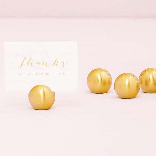 カード立て カードスタンド ゴールドのボール 金属製 丸型8個セット|yourstylewedding