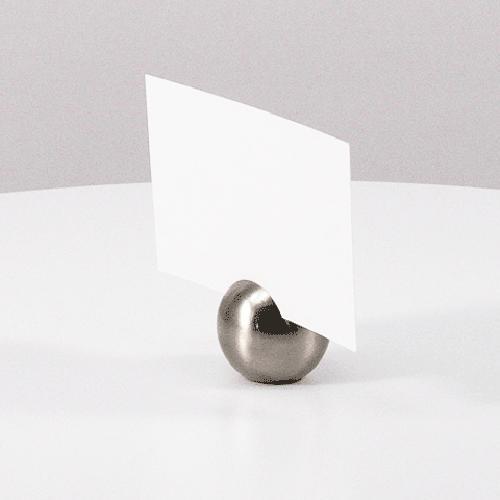 カード立て カードスタンド シルバーのボール 金属製丸型 8個セット|yourstylewedding|04