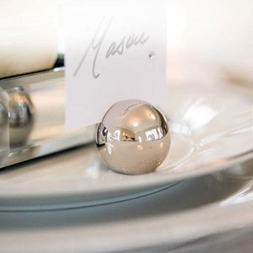 カード立て カードスタンド シルバーのボール 金属製丸型 8個セット|yourstylewedding|09