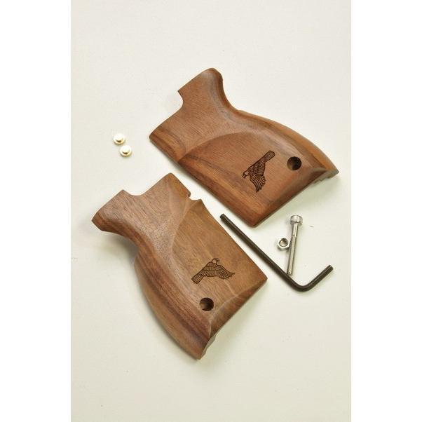 キャロムショット 木製グリップ ウォールナット レーザーイーグル