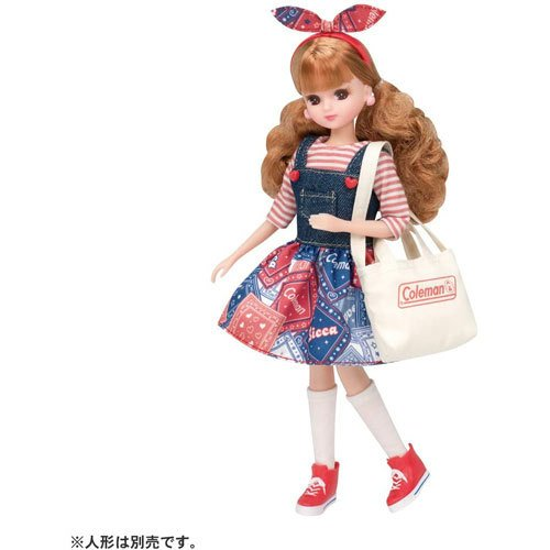 送料無料 奉呈 リカちゃん LW-10 ガーリーピクニック コールマンコラボ メーカー公式ショップ バッグ ドレス 4904810167990 付属