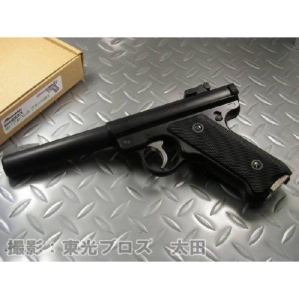 送料無料 マルシン工業 6mmBBガスガン スタームルガーMk1 ブルバレル ブラックABS