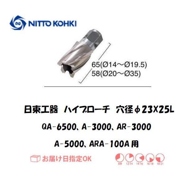 日東工器(NITTO KOHKI) ハイブローチ 穴径23mm用 16223(QA-6500、A-3000、AR-3000、A-5000、ARA-100A用)