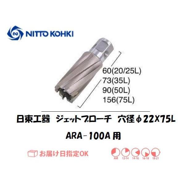 日東工器(NITTO KOHKI) ジェットブローチ 穴径22mm用 06195(ARA-100A用)