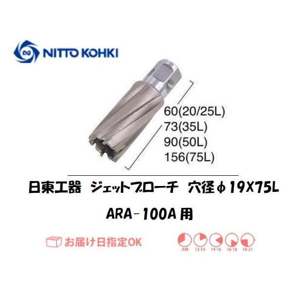 日東工器(NITTO KOHKI) ジェットブローチ 穴径19mm用 07692(ARA-100A用)