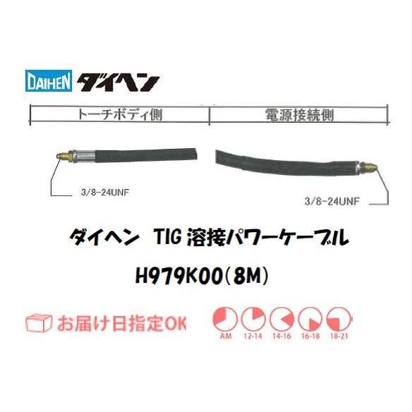 ダイヘン(DAIHEN) TIG溶接用パワーケーブル H979K00(8M)