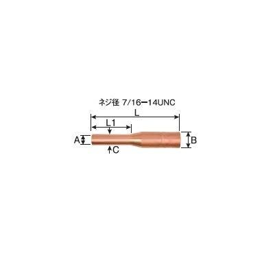 細径ノズル パナソニック Panasonic CO2溶接用ノズル TGN01026 5個入り