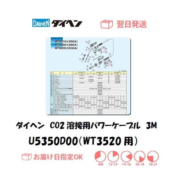 ダイヘン(DAIHEN) CO2溶接用パワーケーブル(WT3520-SD用) U5350D00 3M