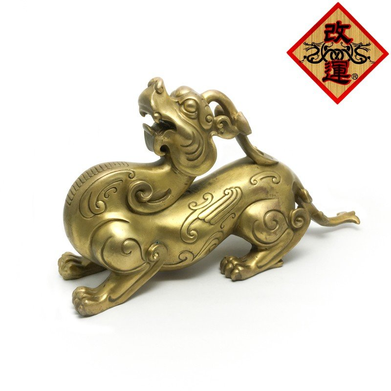 睚眦 ヤアズの置物 銅製
