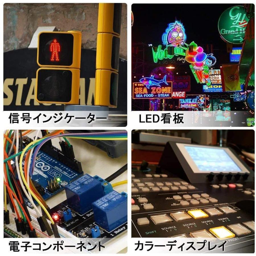 DiCUNO 発光ダイオード 3mm 10色 透明LEDセット 赤/青/白/橙/黄/緑/ピンク/紫/電球色/鶸色 各20個 透明 200個入 yoyogiha 09