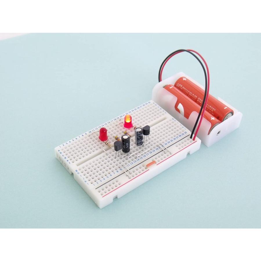 サンハヤト 小型ブレッドボードパーツセット SBS-202 LED点滅回路 yoyogiha 03