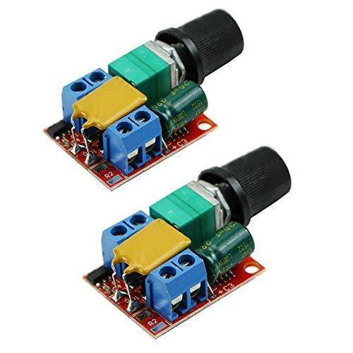 HiLetgo? 5Aミニ DC モータ PWM 速度コント ローラー 3V-35V スピード コントロール スイッチ LED 調光器 並行|yoyogiha