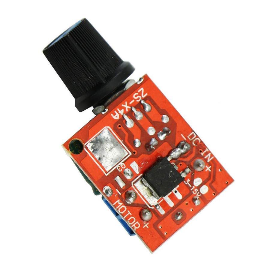 HiLetgo? 5Aミニ DC モータ PWM 速度コント ローラー 3V-35V スピード コントロール スイッチ LED 調光器 並行|yoyogiha|02