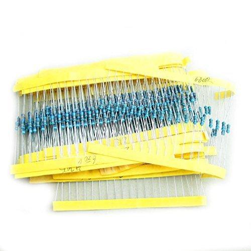 HiLetgo? 500pcs 電子部品抵抗バッグ 1/4W金属膜 1%五色環 25種類各20pcs 並行輸入品 yoyogiha