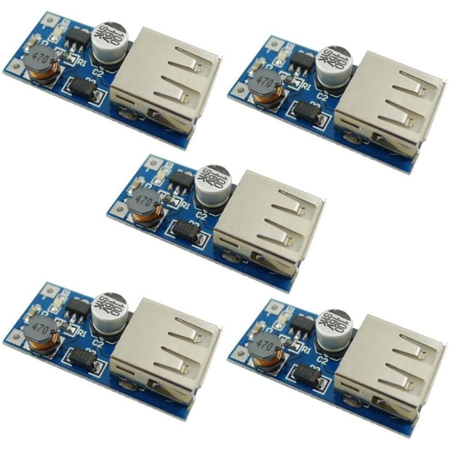 KKHMF 5 個 DC-DC USB 0.9V-5V に 5V 電圧変換ステップアップブースターモジュール yoyogiha 06