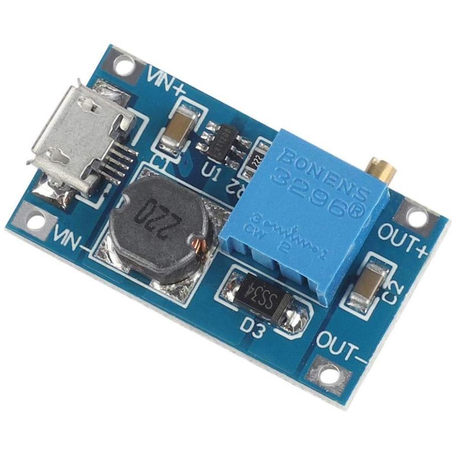 VKLSVAN 10個 2A DC-DC ブーストステップアップ 転換モジュール Micro USB 2V-24V to 5V-28V 9V yoyogiha 06