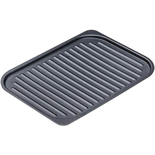 イシガキ産業 グリルパン 波型 黒 S 約幅18×奥24.5×高0.7cm グリル名人 スチール プレート IH ガス火 食器洗浄機|yoyogiha