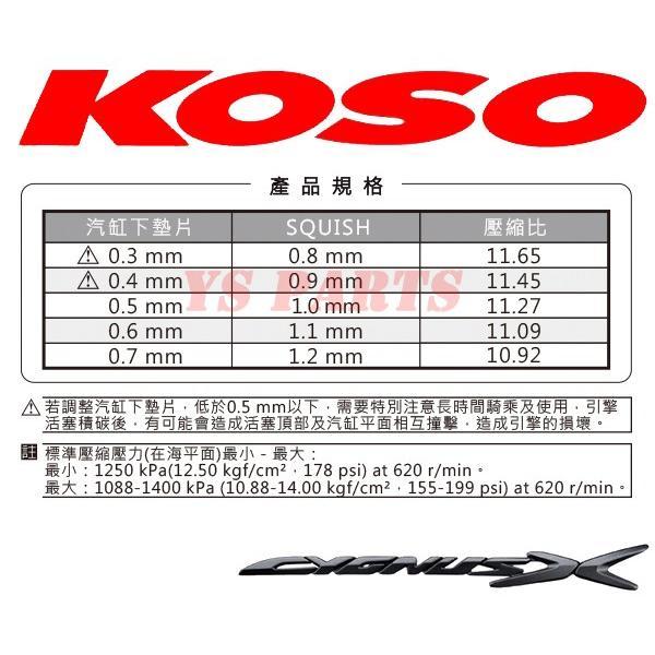 【超高品質】KOSO鍛造ハイコンプピストン シグナスX 5UA/5TY/28S/4C6/1CJ/1YP/1MS/BF9/2UB [1-4型までOK]【ピストンリング+ピストンピン+サークリップ付】|ys-parts-jp|05