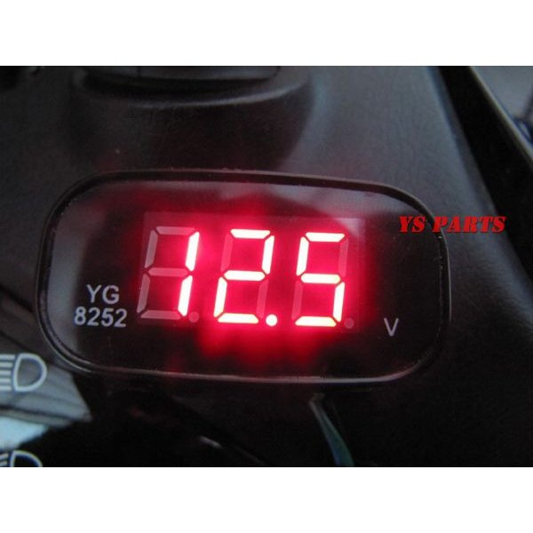 【超小型】LEDボルトメーター赤モンキーゴリラダックスシャリージャイロアップジャイロキャノピージャイロXライブディオZXスーパーディオZXエイプ100等に ys-parts-jp 04