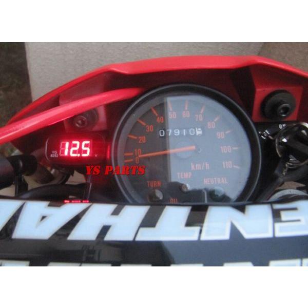 【超小型】LEDボルトメーター赤モンキーゴリラダックスシャリージャイロアップジャイロキャノピージャイロXライブディオZXスーパーディオZXエイプ100等に ys-parts-jp 05