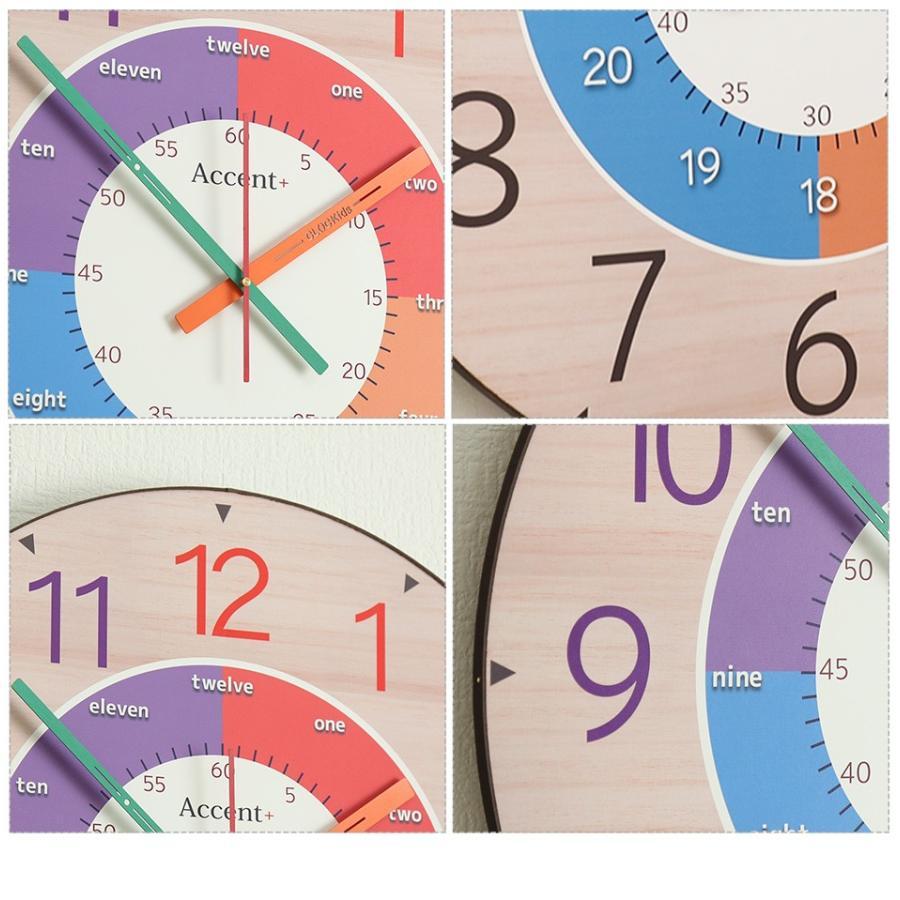 知育時計 掛け時計 子供部屋 おしゃれ 大きい文字 カラフル 大型 オシャレ 大型時計 クロキッズ|ys-prism|09