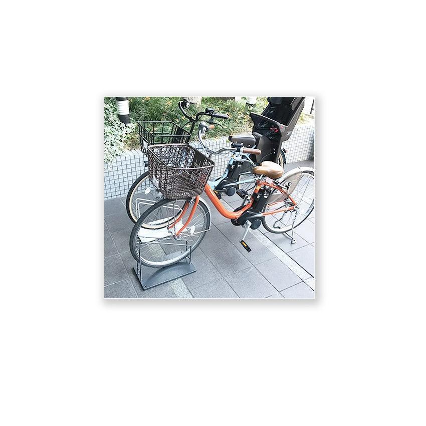 自転車スタンド スマートエックス 26インチ 27インチ 大型 電動自転車用 SMART X おしゃれ 車輪止め  鉄製 転倒防止 駐輪スタンド 1台用 屋外 日本製|ys-prism|04
